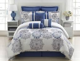 clever design ideas blue gray comforter set striped and fl clearance cotton twill grey 10