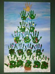 Hand Print Diy Christmas Deko Fenster Geschenk Deko