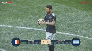 PES 2019 GAMEPLAY FRANCE VS ARGENTINA WITH PENALTIES - YouTube
