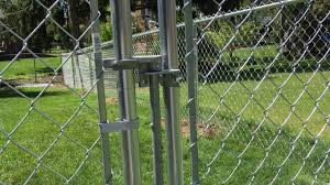 chain link fence gate latch steel
