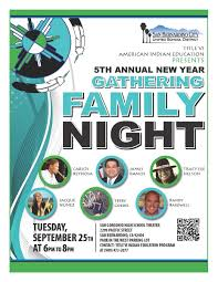 american indian education 5th annual family night flyer