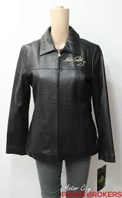 excelled elvis presley themed studded black las leather jacket new