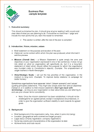 Retail Business Plan Outline Template Business Plan Template For Startup Executive Summary