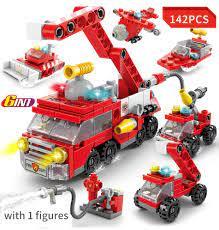 Báo giá Đồ chơi trẻ em, lego xếp hình đội xe cứu hỏa, đồ chơi trí tuệ lắp  ráp thông minh – Minhhanh588 chỉ 55.000₫