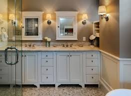coastal style bath lighting. Medicine-cabinet-in-cozy-beach-style-bathroom-ideas- Coastal Style Bath Lighting