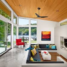 Sunken Living Room In Bright And Airy Home