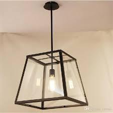 extraordinary vintage hanging lamp rh lighting loft pendant light restoration hardware filament edison bulb glass box home plug in shade swag