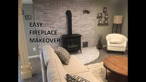 fireplace makeover diy whitewash your fireplace brick