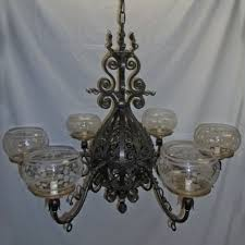 wrought iron victorian gas chandelier originally gas