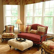 Living Room: French Style Living Room Decorating Ideas Cream Color  Sofa Glass Wall