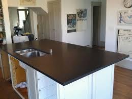 black honed marble countertop