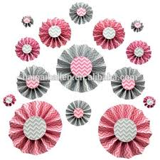 Paper Rosette Flower 2015 New Pink Diy Paper Rosettes Fan Paper Flower For Party Paper