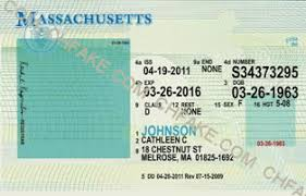 Massachusetts Buy Fake Template Identification Id Scannable