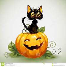 cute halloween black cat. Contemporary Cat Download A Cute Black Cat On Halloween Pumpkin Stock Vector   Illustration Of Icon For E