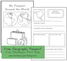 Free Passport Template For Kids Stunning FREE Geography Passport ClassroomTeaching Pinterest