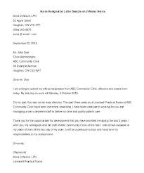 Letter Of Resignation Sample Formal Two Weeks Notice Template Metabots Co