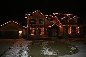 Christmas home lighting Red Christmas Lights On Home Patch Christmas Lights On Home Aces Spray