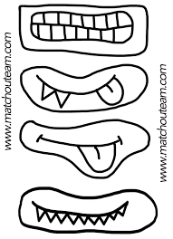Kit R Cr Atif Pour Halloween Monstres Coloriage Et Activit Coloriage Yeux De Monstre A Imprimer Coloriage Bouche De Monstre L