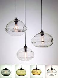 hand blown glass pendant lighting. Lovely Blown Glass Pendant Lighting Clear Lights Band Hand B
