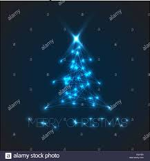 Blue Lights Digital Vector Christmas Tree From Digital Electronic Blue Lights