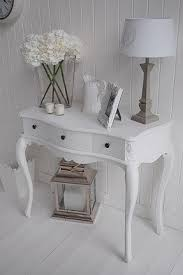 Stunning White Hallway Console Table and White Console Table With