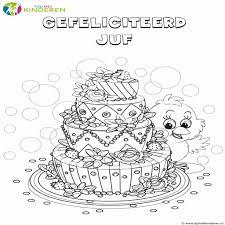 Kleurplaat Voor Verjaardag Juf Dejachthoorn