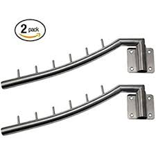 Bosszi 2 Pack Stainless Steel Clothes Hanger with Swing Arm Holder Clothing  Hanging System Duty Drying