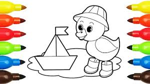 1280x720 drawing duck baby alexander smile coloring book with colored