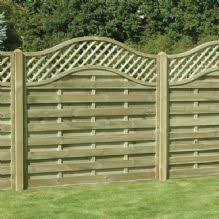 garden fencing panels. Omega Lattice Top Fence Panel 1.8m X Garden Fencing Panels