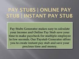 Online Pay Stub Generator Pay Stubs Generator Online Paystub Instant Pay Stub By Pay Stub