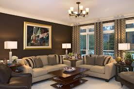 living room walls brown statement wall image source
