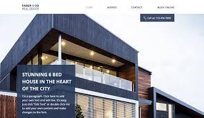 Real Estate Website Templates Extraordinary Real Estate Website Templates Business Wix