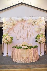 Sweetheart Table Backdrop with Large Gold Calligraphy Monogram | Lizzie  Bee's Flower Shoppe https:/