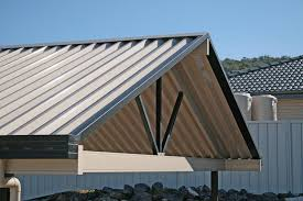 40 x 26 vertical roof metal carport with side panels