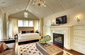master bedroom ideas with fireplace. Tan Bedroom Ideas Contemporary Master With Vaulted Ceiling Fireplace And Tufted Bed Gray