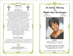 funeral pamphlet funeral pamphlet template