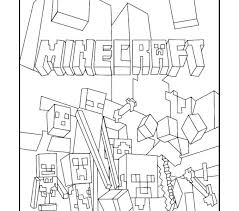 Minecraft Coloring Pages Free Lisaallen Me