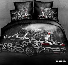 trendy white duvet cover cal king 3d black panther bedding sets california quilt designer fitted bed in a bag sheets queen size leopard aniaml print covers