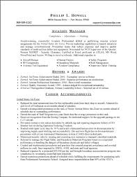 air force resume examples