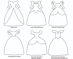 princess dress overview disney princess dress paper templates reiko handcrafted on bunting template to print
