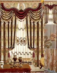 magnificence damask fl living room curtain in gold color not included valance living