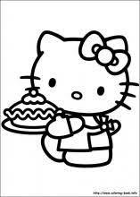En Hello Kitty Kleurplaat