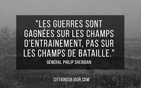 Citation Sur La Guerre Du Général Américain Philip Sheridan