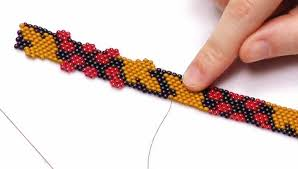 how to embellish peyote stitch bead weaving with brick stitch accents