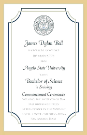 Formal College Graduation Announcements Graduation Invitation Cards Samples Developmentbox