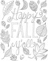 Small Picture Happy Fall Yall Free Printable Coloring Page