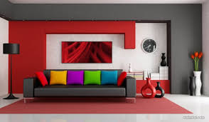 Attractive ... Red Living Room Wall Paint Ideas