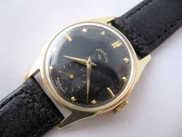 1953 lord elgin 14k gold mens wrist watch black dial watches 1953 lord elgin 14k gold mens wrist watch black dial