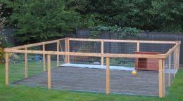 <b>Nice DIY</b> Dog Run Project Complete with Low Maintenance Kennel ...