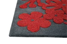 red and grey area rugs white
